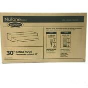 Nutone Ductless Range Hood Non Vented With Light 30 Inch Black Rl6230bl