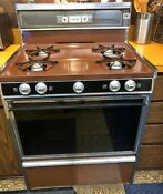 Vintage Jcpenny 30 Inch Coppertone Continuous Cleaning Gas Stove 1981 Hardwick