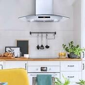Cosmo 30 In Wall Mount Range Hood W 760 Cfm Ducted Exhaust Vent Stainless Steel
