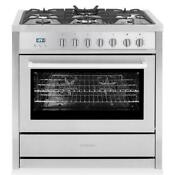 Cosmo Freestanding Dual Fuel Range Convection Oven Stainless Steel F965nf