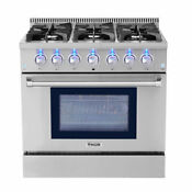 Thor Kitchen 36 Dual Fuel Range Stove 1oven Stainless Steel Hrd3606u Usa