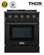 30 Free Standing Gas Range Oven Thor Kitchen Hrg3080 Bs Professional Black Us