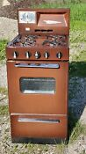 Vintage Coppertone Brown Stove Works 21 Gas Stove In Good Condition Lp Gas