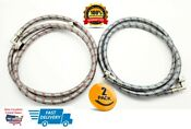 Washing Machine Stainless Steel 6ft Washer Water Supply Hoses 2 Pack 90 Elbow