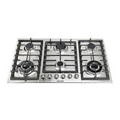 Brand New 34 Stainless Steel 6 Burners Built In Cooker Stove Ng Lpg Hob Cooktop