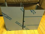 New Ge Stainless Steel Vented Range Hood Flute Duct Cover 12 And 13 In Height