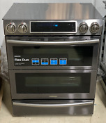 Samsung Ne58k9850wg Black Stainless Steel Double Wi Fi Oven Range New