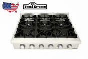 36 Thor Gas Range Stove Top Oven Griddle W 6 Burners Stainless Steel Hrt3618u