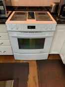 Jenn Air Electric Downdraft Slide In Range 30 Inches Model Jes9860caw01
