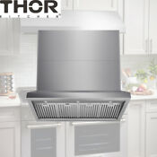 Thor 48 Inch Wall Range Hood Stainless Steel Stove Led Light Vent Fan Trh4806 Us
