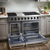 Thor 48 Inch Range Cooktopgas 2 Oven 6 Burners Griddle Stainless Steel Lrg4807u