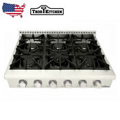 Thor 36 Gas Range Top With 6 Burner Oven Stove Top Stainless Steel Hrt3618u Us