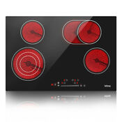 Iseasy 30 Cooktop Electric Ceramic Built In 4 Burners Touch Control Cooker Us