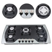 Built In Stainless Steel 5 Burners Stove Top Gas Cooktops Propane Gas Cooker Usa