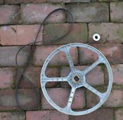Ge Washer Drive Pulley And Belt Wh07x10016 1168657 Ah1016963 Ea1016963 Ps1016963