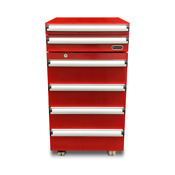 Portable 1 8 Cu Ft Tool Box Refrigerator In Red With 2 Drawers And Lock
