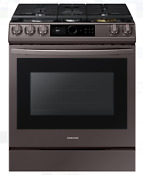 Samsung Nx60t8711st Tuscan Stainless Steel 30 Slide In Gas Range New In The Box