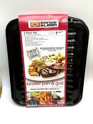 Range Kleen Porcelain Broiler Pan And Grill 2 Piece Set New Old Stock