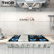 48 Range Stove 6 Burner Portable Stainless Steel Range Top Cooker Thor Hrt4806u