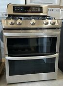 Lg Ldg4315st 30 Inch Double Oven Gas Range Stainless Steel