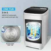 New Full Automatic Washing Machine Portable Washer Compact Laundry Spin Dryer B