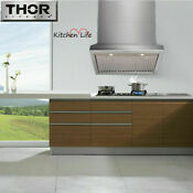 Thor Kitchen Wall Mount 36 Range Hood Trh3606 Stainless Steel With Led Lights