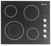 Magic Chef Radiant Electric Cooktop 24 In Black With 4 Elements Schott Glass