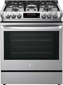 Lg Lsg4511st 30 Inch Gas Slide In Range With 5 Sealed Burners Stainless Steel