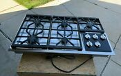 Wolf Professional Stainless Steel 36 Gas Cooktop 5 Burner
