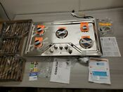 Ge Profile 36 In Gas Cooktop In Stainless Steel With 5 Burners With Rapid Boil
