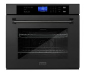 Zline 30 In Black Stainless Professional Single Wall Oven W Self Clean Aws 30