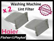 2 X Genuine Haier Washing Machine Lint Filter H00330101843a