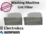 Genuine Simpson Electrolux Washing Machine Lint Filter Pack Of 2 119275000
