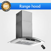 Touch Steel Glass 30 Stainless Wall Mount Sensor Range Hood Remote Control Panel