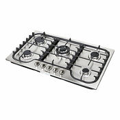 34 Fashion Lines Stainless Steel 5 Burner Built In Stoves Gas Cooktops Cooker
