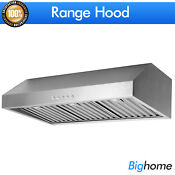 36 Under Cabinet Range Hood Stainless Steel Filter Baffle 500cfm Cook Fan Pipe