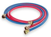 Washing Machine Hose 1 Red And 1 Blue Rubber Made In Usa Upc 10ft 2vi