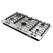 34 In Stainless Steel 6 Burner Built In Stoves Ng Gas Cooktops Household Cooker
