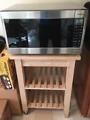 Panasonic Stainless Steel Microwave W Sensor Cooking Inverter Wooden Stand