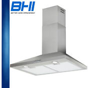 Modern Led 24hrs Touch Quiet Range Hood 30 Wall Mount Complete Stainless Steel