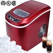Della Portable Electric Ice Maker Machine Producing 26 Lbs Of Ice Per Day Red