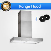 30 Steel Led Wall Mount Cf Kitchen Range Hood Control Stove Vent Stainless Fan