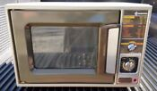Vtg 80s Samsung Microwave Oven Retro Simple 1 Knob 1 Dial Timer 1 Button
