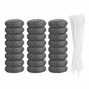 20 Pcs Lint Traps Washing Machine Snare Laundry Mesh Washer Hose Filter