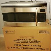 Ge Profile Stainless Steel Over The Range Convection Microwave Oven