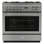 Aga Professional 36 Stainless Steel Dual Fuel True Convection Range Ampro36dfss