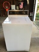 Maytag Heavy Duty Washing Machine Used White With Owners Manual