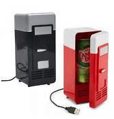 Portable Car Refrigerator Usb Charge Cool Heat For Beverage Cans Snacks