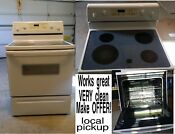 Electric Oven Range Stove Whirlpool Rf386pxe Working Perfectly Very Clean