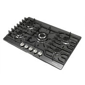 30 Black Titanium Cooktop 5 Burner Built In Stoves Lpg Ng Gas Hob Cooker Cooktop